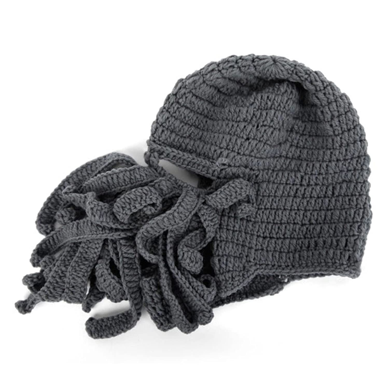 AWEIDS Tentacle Octopus Cthulhu Knit Beanie Hat Cap Wind Ski Mask ...