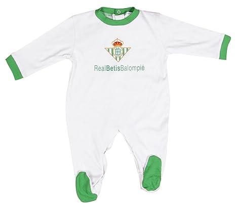 Real Betis Balompié Pelbet Pelele, Bebé-Niños, Multicolor (Blanco / Verde)