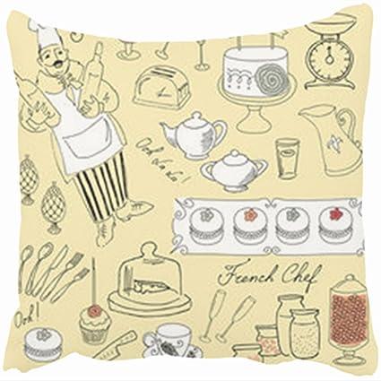 Amazon Com Custom Decorative Throw Pillows Covers Food Set French