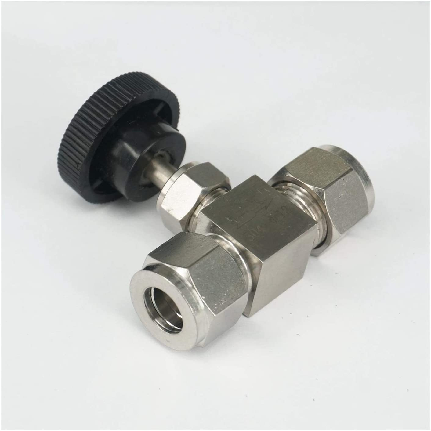WUXUN-Valve 4mm OD Tube Needle Valve 304 Stainless Steel Shut Off Flow Control Needle Valve Compression Fitting 6.4 Mpa