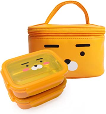 Kakao Friends - Double lock 304 Stainless Steel Baby Little Kid and Toddler Mealtime Bento Lunch