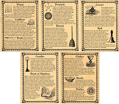 image relating to Printable Book of Shadows titled E-book of Shadows Internet pages, Preset of 5 Webpages upon Wiccan Ritual Equipment and Materials, Wicca, Witchcraft, which includes Charmed (Gold)