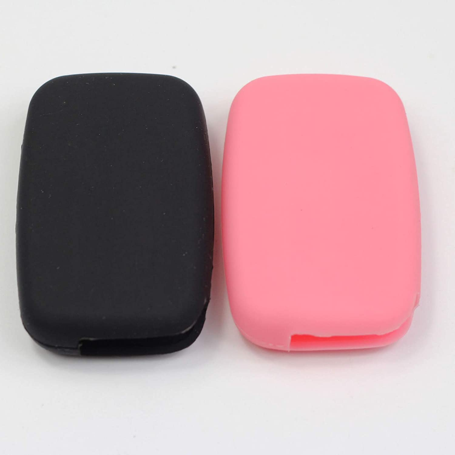 Btopars 2pcs Black Remote Smart Key Fob Silicone Case Cover Protector Holder Compatible with Land Rover LR2 LR4 Discovery Range Rover Sport Evoque
