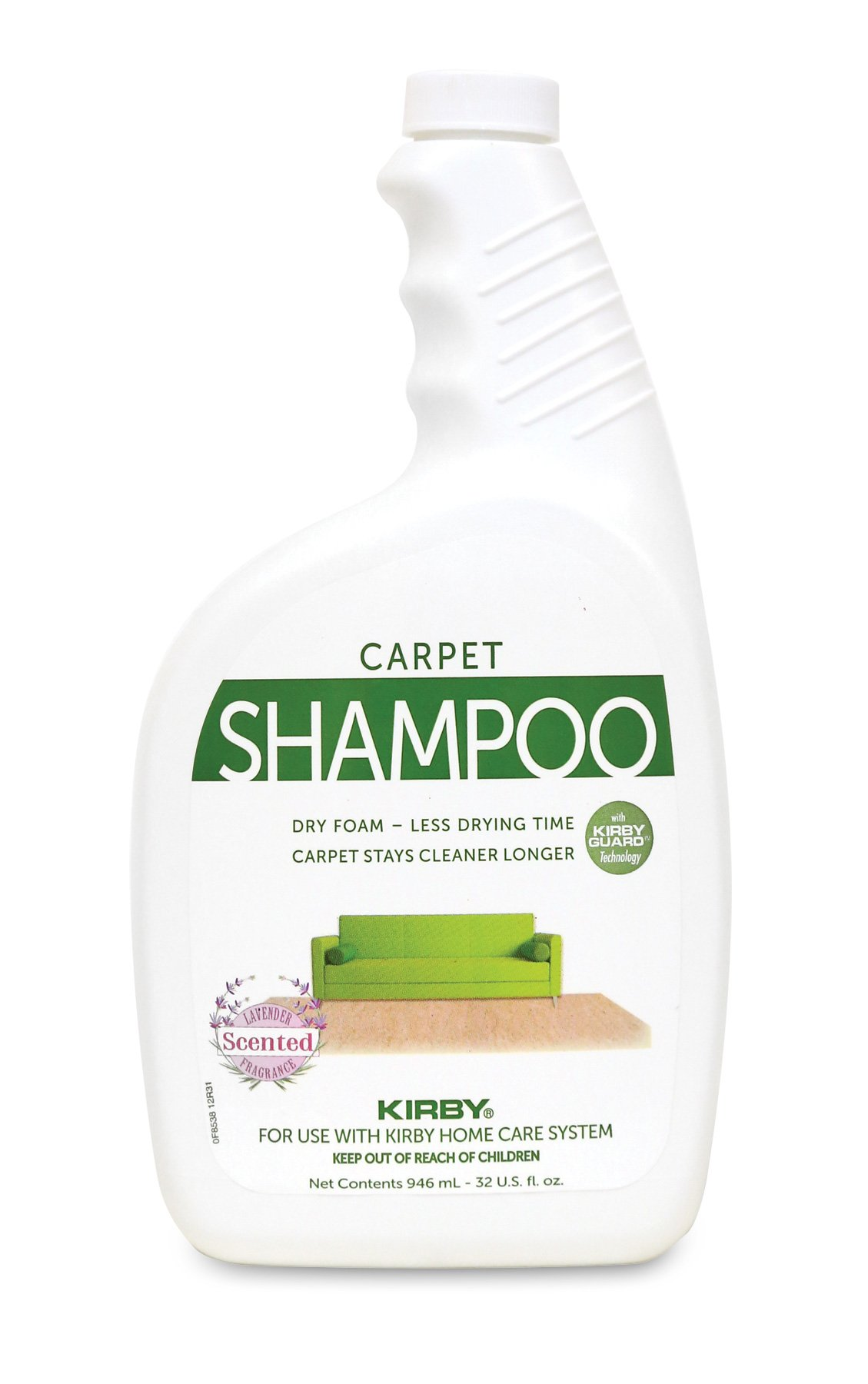 Kirby Shampoo & Stain Carpet Shampoo-Rug Remover & Odor Eliminator, Smell Neutralizer Solution-Remove Dog and Cat Stains, 32oz, Packing may Vary by Kirby