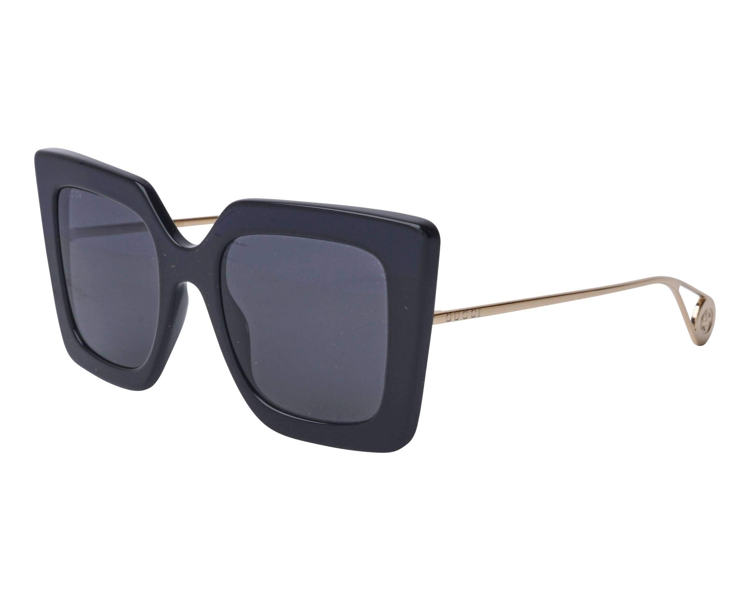 Sunglasses Gucci GG 0435 S- 001 BLACK/GREY GOLD by Gucci