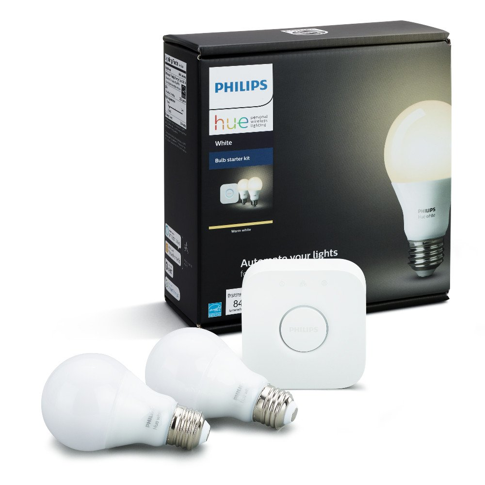 Philips Hue White A19 LED Smart Bulb Starter Kit