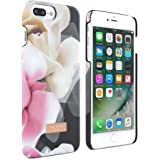 Official TED BAKER AW16 iPhone 8 Plus / 7 Plus Case - Luxury Snap on Case / Cover in Flower Design for Women - Hard shell Back Cover for the Apple iPhone 8 Plus / 7 Plus - Porcelain Rose Black