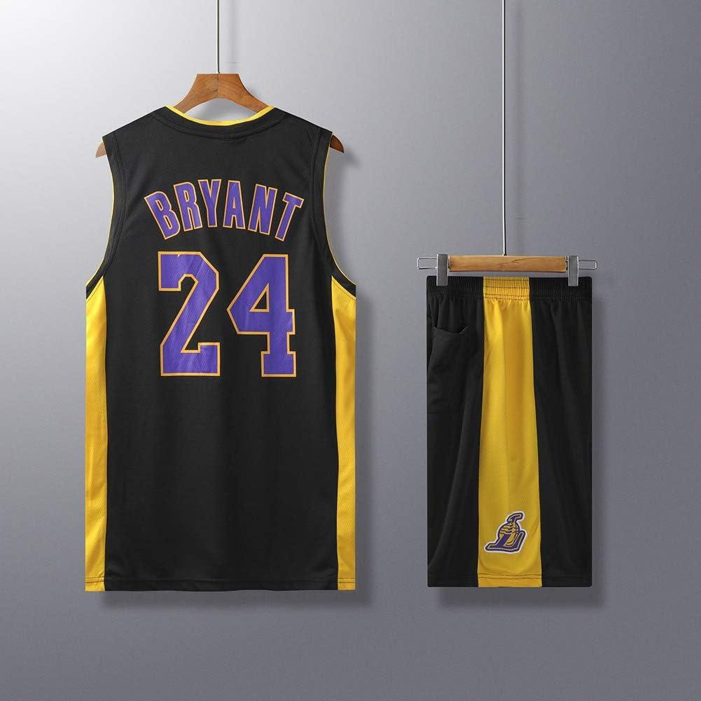 XCR Ni/ños Chico Chicas Hombres Adulto NBA Kobe Bryant #24 LBJ LA Lakers Retro Pantalones Cortos y Camisetas de Baloncesto Basketball Jersey Uniformes Top/&Shorts 1 Set
