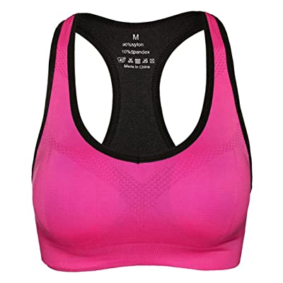 WSPLYSPJY Women's Sports Bras Racerback High Impact Support For Yoga Gym Workout Fitness
