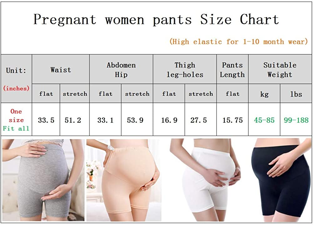 Asokex Maternity Shapwear High Elastic Stretch Seamless Pregnant Panties Grey