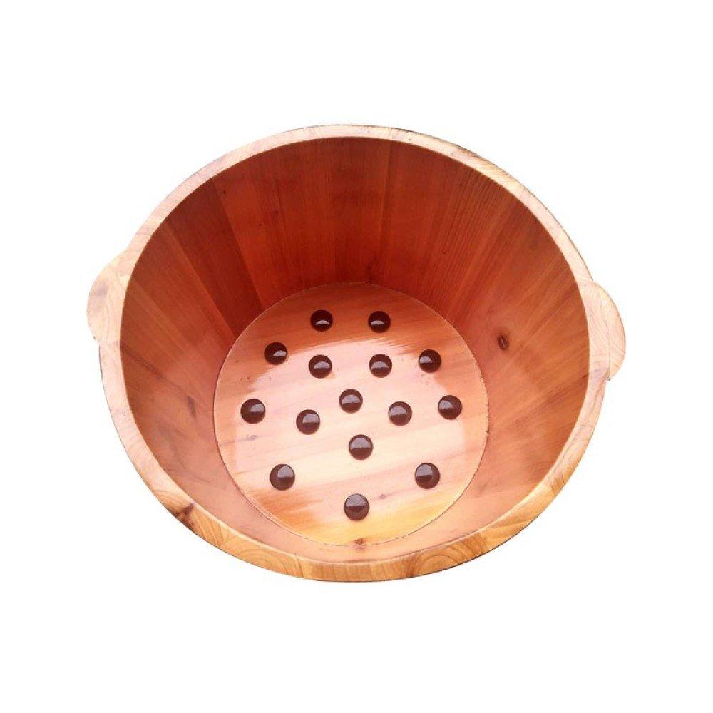 ERHANG Pedicure Basin, Footbath Foot Bath Bucket Barrel Solid Wood Wood Barrel Tub Adult Household Foot Barrel Small Basin Fumigation Barrel,B