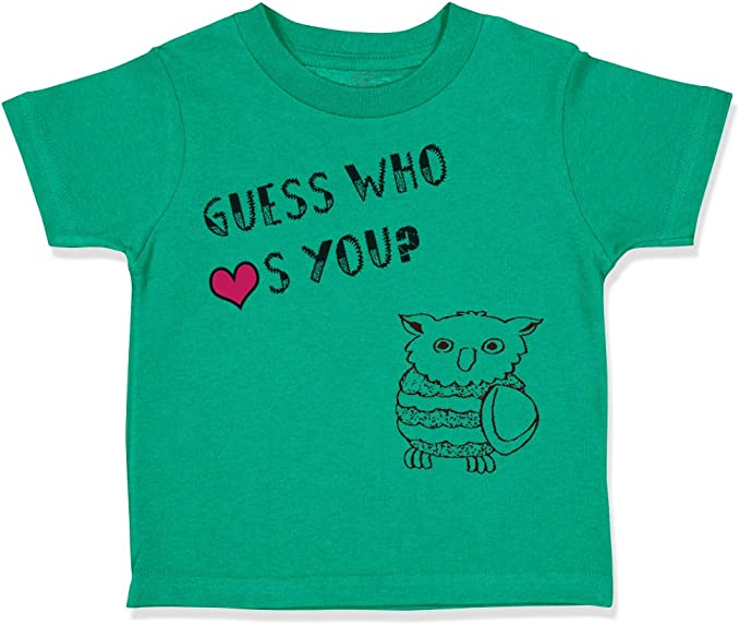 Custom Toddler T-Shirt Owl on Branch Always Love You Cotton Boy /& Girl Clothes