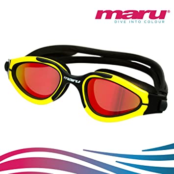 Gafas Groove de natación, polarizadas, de Maru, anti niebla – Gafas para aguas abiertas o triatlón, amarillo: Amazon.es: Deportes y aire libre
