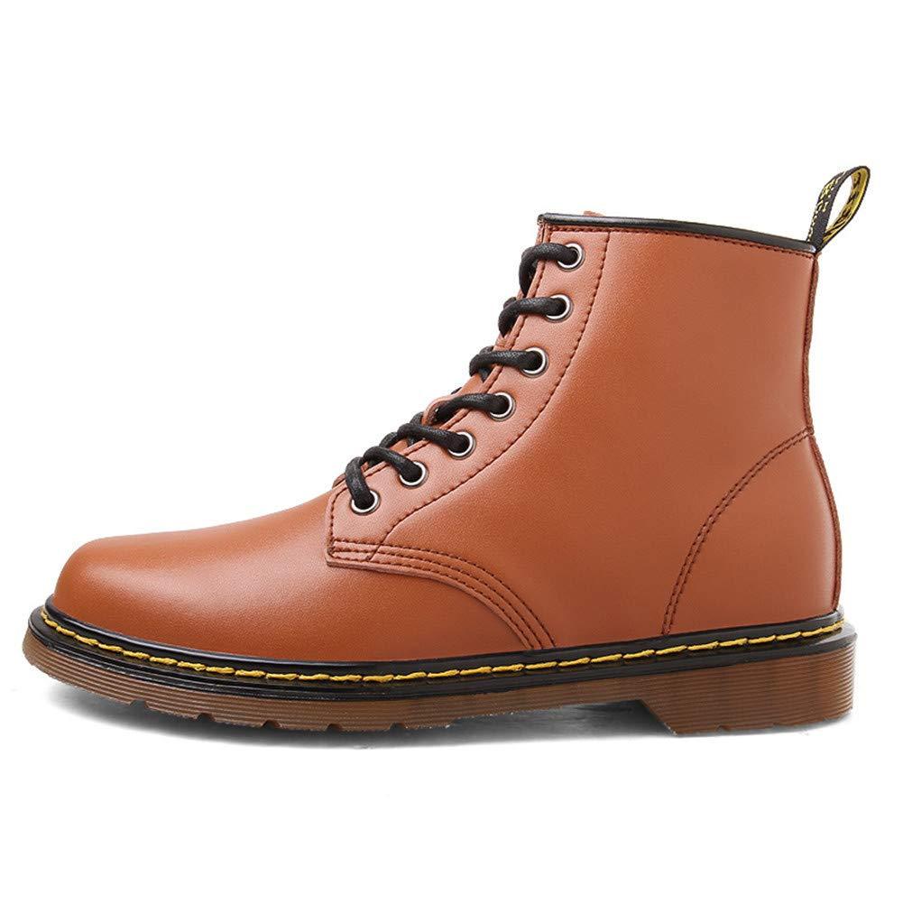 WOJIAO WOJIAO WOJIAO Lässige Erhöhung 8 cm Stiefel Herren High Top Elevator Schuhe Schwarz Braun Oxfords  dcf563