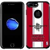 NBA Houston Rockets - Licensed Team Color Texture Case with Center Stripe Design for iPhone 8 Plus / 7 Plus / 6s Plus / 6 Plus