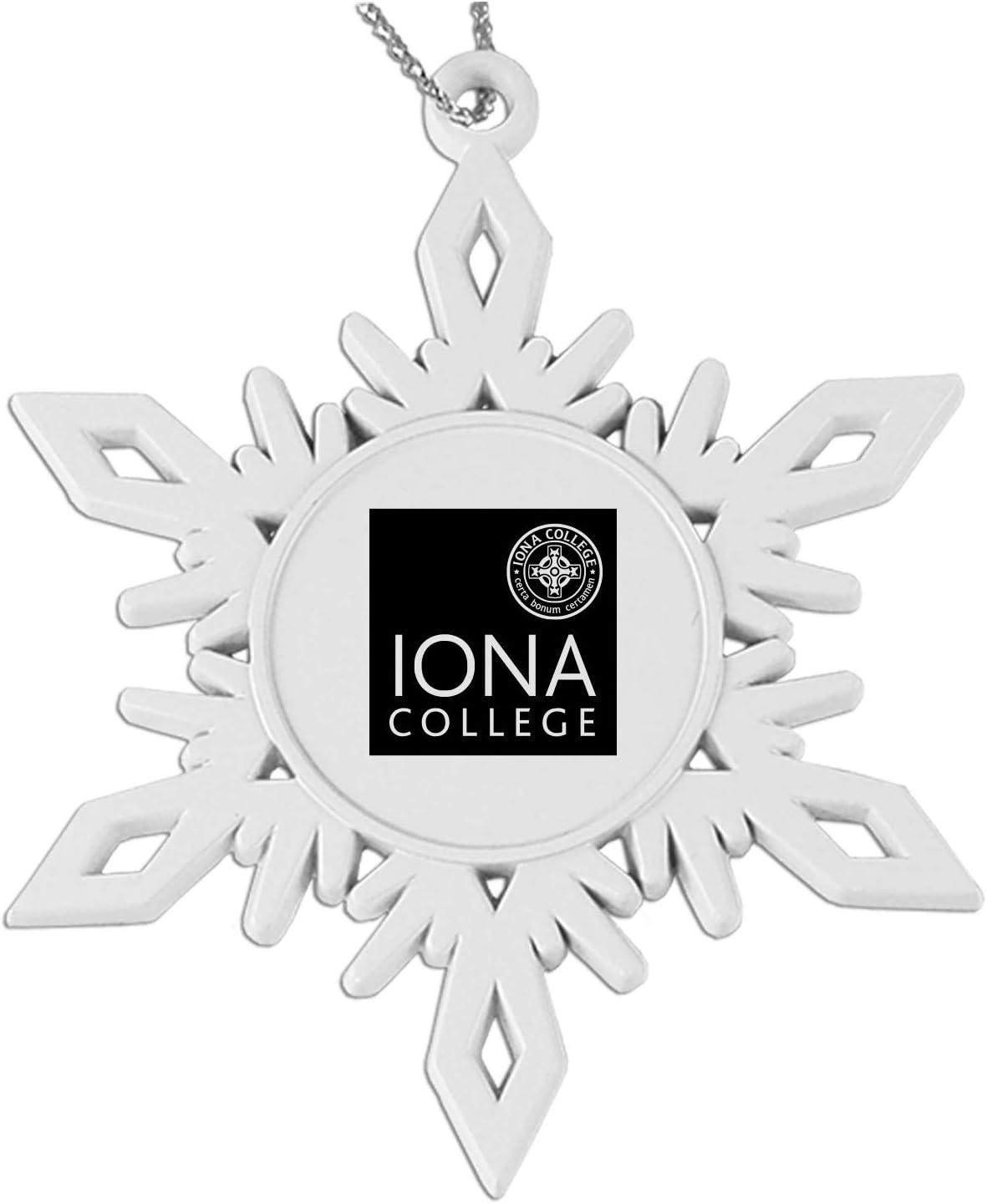 Monmouth University|Snowflake Pewter Ornament|White