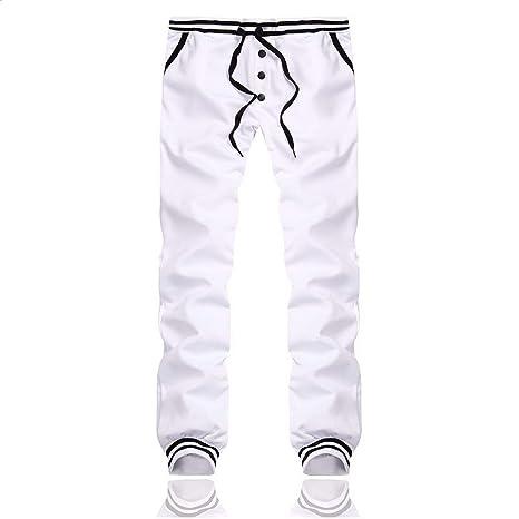 Loose Sport Joggers Elastic Waist Slacks Trousers Plain ...