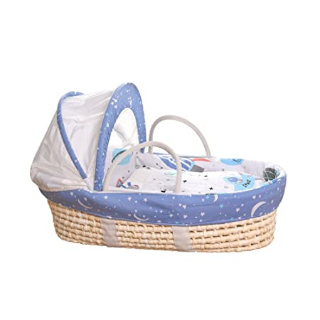 grossiste de620 cc12d QFFL tilan Baby Basket Portable Straw Frame Sleeping Basket ...