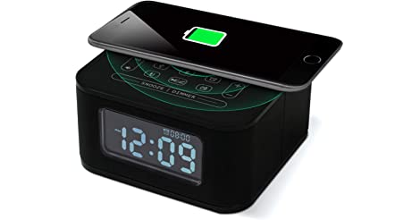 Homtime Bluetooth Alarm Clock with Wireless Charging only $38.99