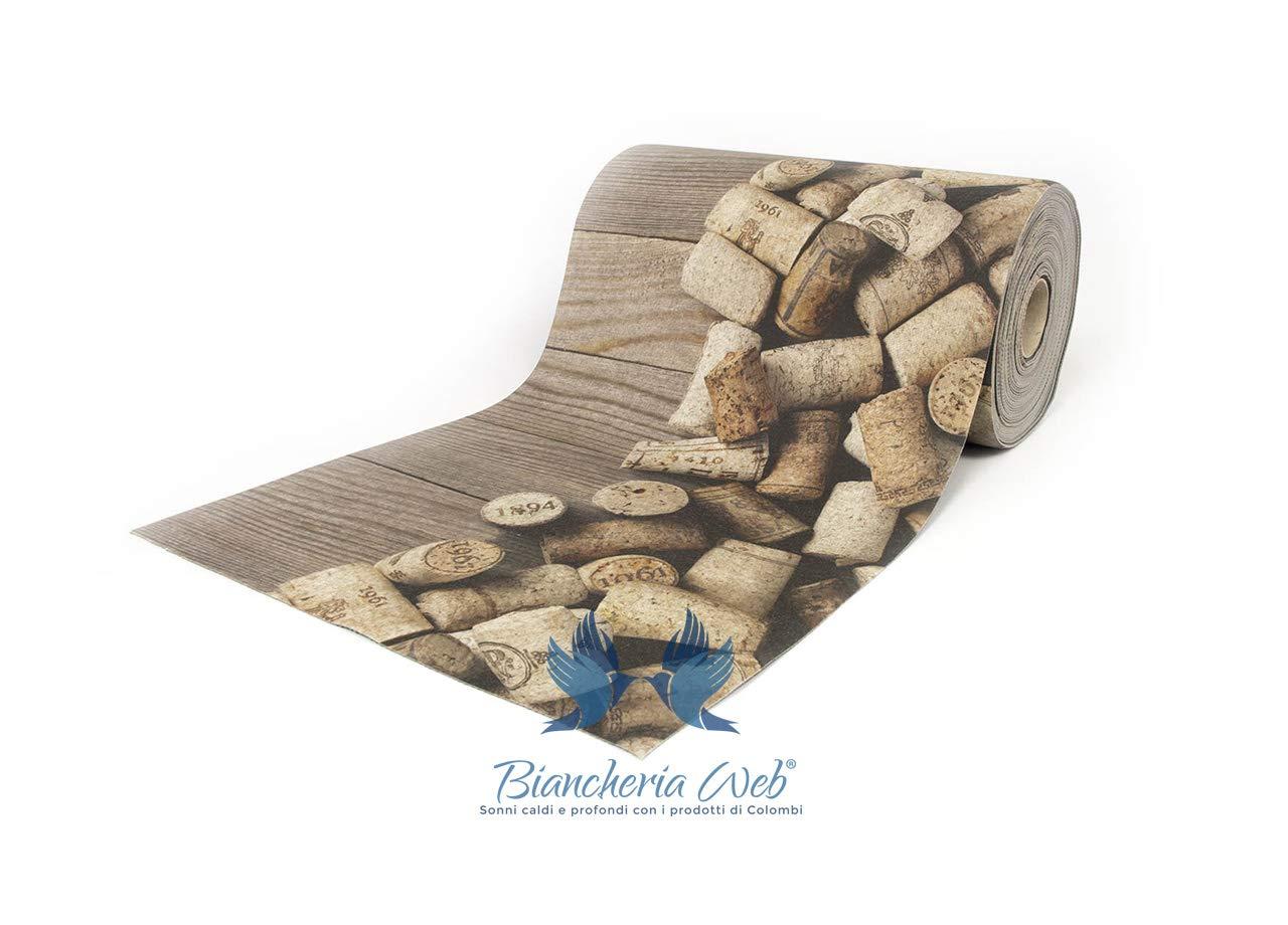 BIANCHERIAWEB Tappeto Passatoia Antiscivolo Disegno Cork 50x100 Cork COINGROSTEX