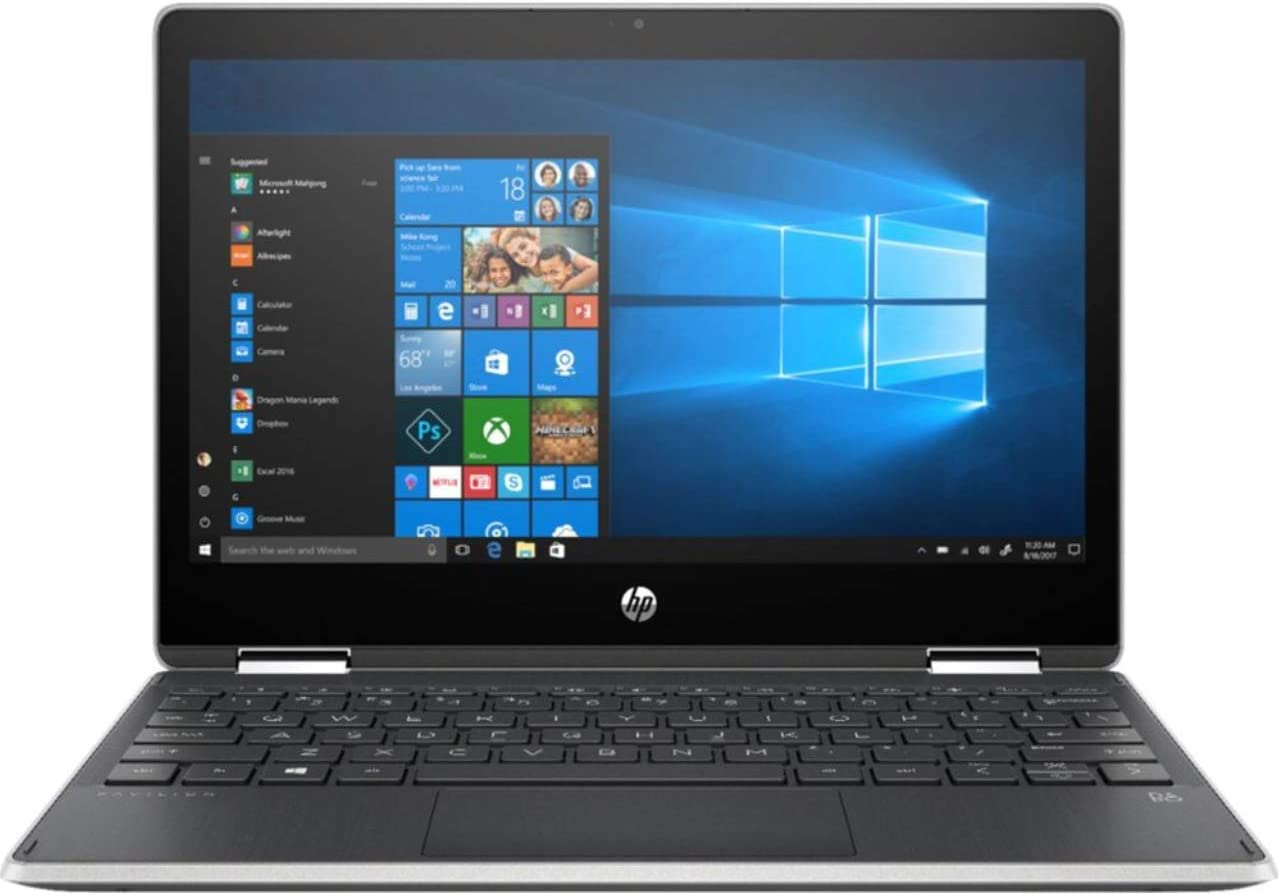 "HP - Pavilion x360 2-in-1 11.6"" Touch-Screen Laptop - Intel Pentium - 4GB Memory - 128GB Solid State Drive - Ash Silver Keyboard Frame, Natural Silver (Renewed)"