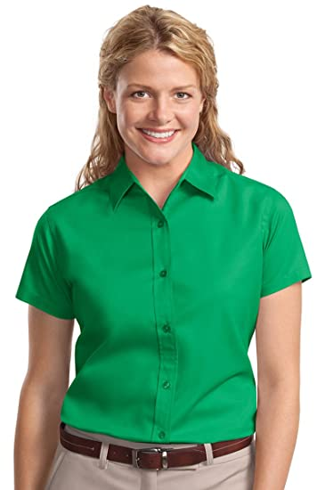 411cb596 Port Authority Ladies Short Sleeve Easy Care Shirt. L508 Court Green ...