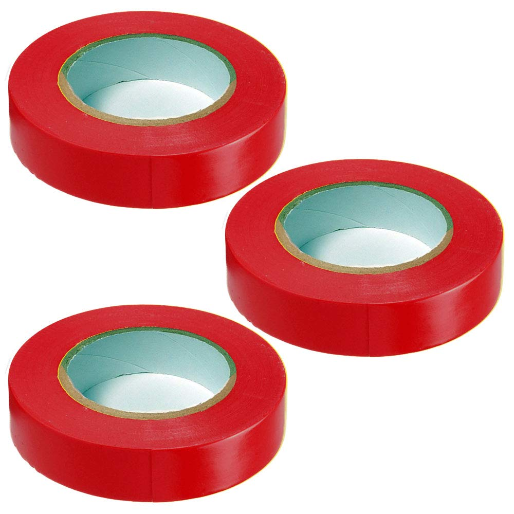 White Green 3//4 Width x 60 Length 5 Pieces Red General Purpose Vinyl Electrical Tape Commercial Colors: Black Blue