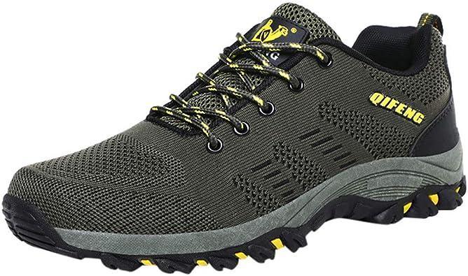 OPAKY Zapatos Running Hombre Zapatillas de Senderismo de ...