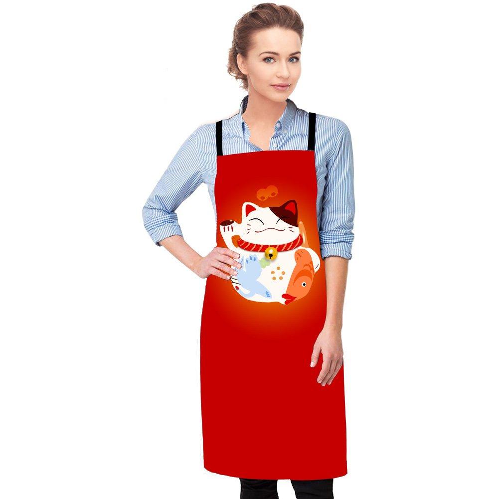 GIVE ME BAG Generic Art Apron Patterns Women Geometric 3D Pattern Kitchen Apron Adults Cooking Garden