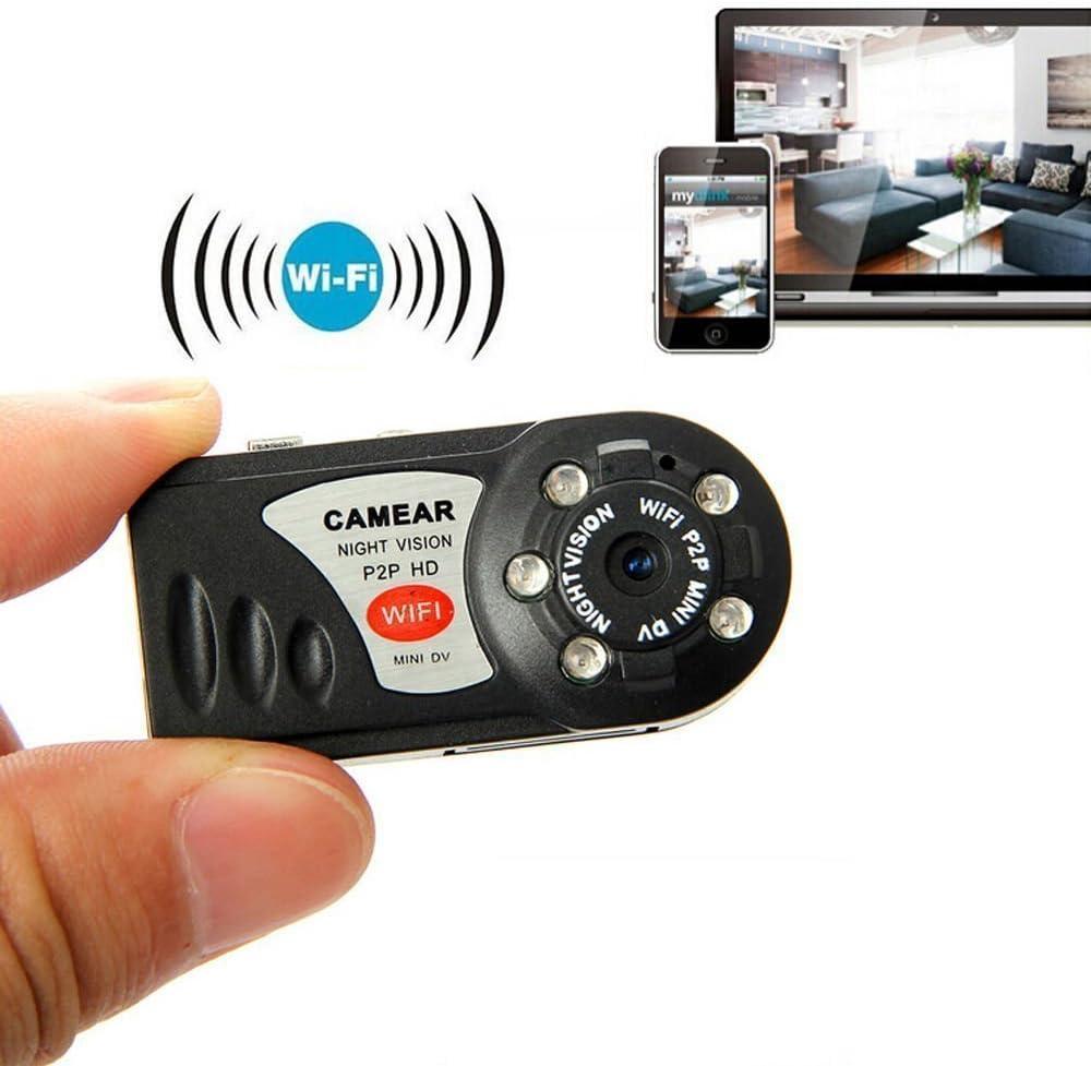 Leaning Tech Mini Vigilancia inalámbrico Wifi P2P Mini cámara IP Seguridad 32 GB TF tarjeta de tarjeta de memoria de 8 GB para Android IOS PC Tablet