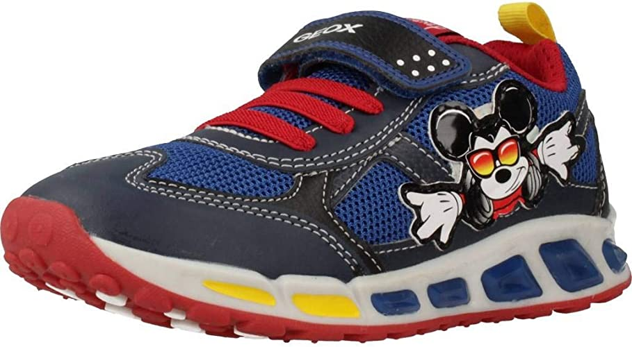 Ananiver mezcla comportarse  Geox J Shuttle A Navy/Red Mesh Child Trainers Shoes: Amazon.co.uk: Shoes &  Bags