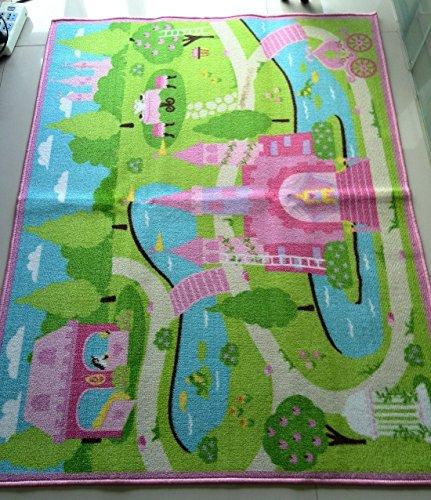 LELVA Cartoon Castle Girls Bedroom Rugs,Delicate Little ...