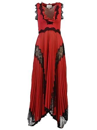 0a2880d021d Gucci Femme 457530X5k406583 Rouge Viscose Robe  Amazon.fr  Vêtements ...