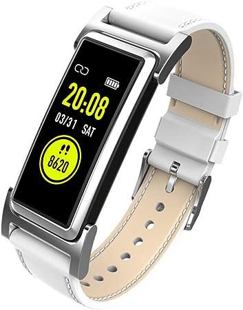 NFGGLM Pulsera Deportiva Inteligente GPS Impermeable Ip68 Mano Arriba Pantalla Brillante Paso De Ritmo Cardíaco Reloj Blanco: Amazon.es: Hogar