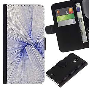 Be Good Phone Accessory // Caso del tirón Billetera de Cuero Titular de la tarjeta Carcasa Funda de Protección para Samsung Galaxy S4 Mini i9190 MINI VERSION! // Pen Lines Geometry Pattern Bird