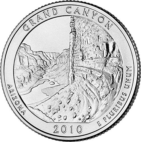America the Beautiful US 2010 Arizona Grand Canyon National Park Quarter BU Uncirculated Coin Simple Slide 36 Cord Bolo Tie NEW