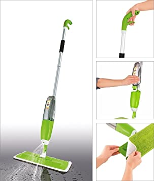 Glive's Spray Mop Aluminium Healthy Spray Mop Floor Cleaning Microfiber Spray Mop - Dry and Wet Cleaning