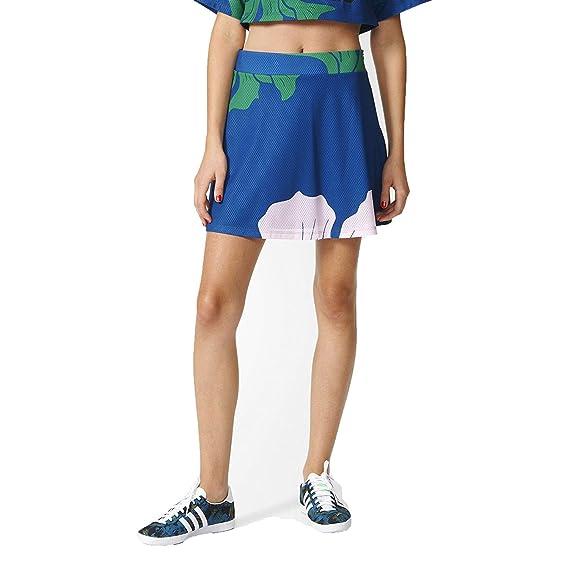 12899611c adidas Originals Floral Engraving Women's Skirt Dmarin/Green/Clpink/Dkblue  az6320 - Blue