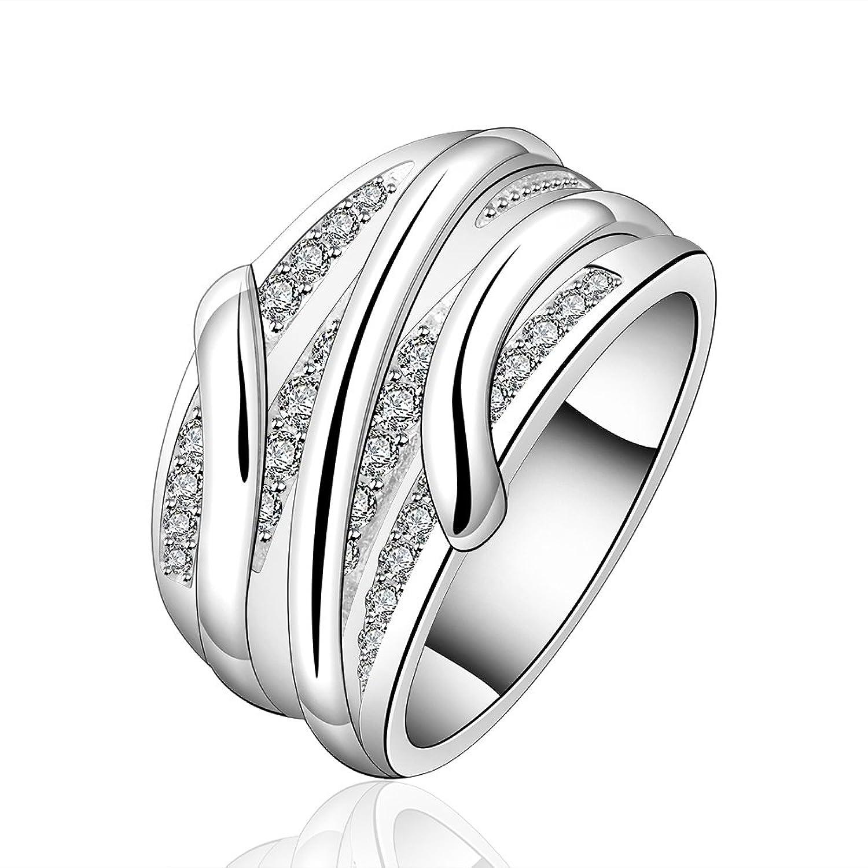 Amazon.com: New Fashion Jewelry 925 Silver Beautiful Austrian ...