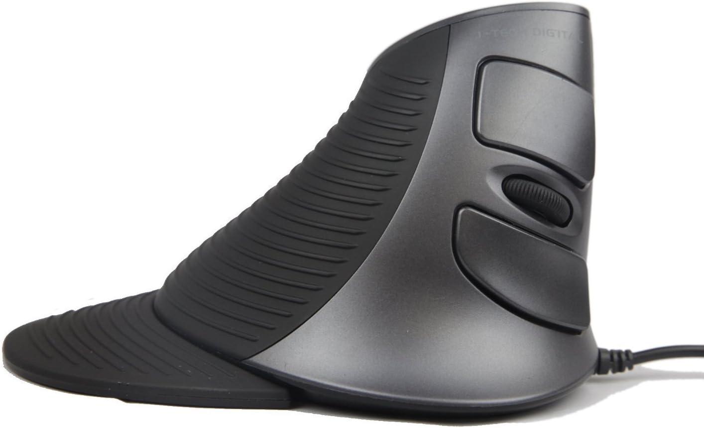 JTD Optique Verticale Souris USB Ergonomique Filaire Souris 3 Niveau DPI 6 Boutons Souris Repose-Poignet Inclus (Amovible) prévention de Syndrome de Souris/coude de Tennis Uniquement pour droitiers