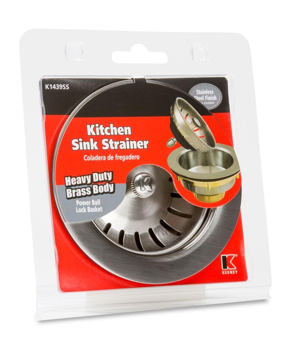 Keeney K1439SS Deep Thread Cast Brass Sink Power Ball Basket, Complete Kitchen Strainer 4.5'', Stainless Steel by Keeney (Image #2)