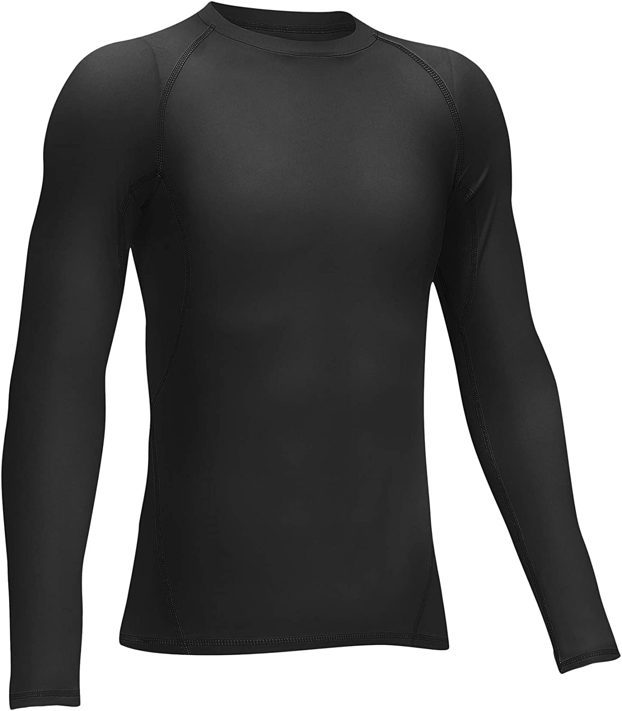 Boy Girls Long Sleeve Shirt Teen Youth Hockey Ice Base Layer Undershirt