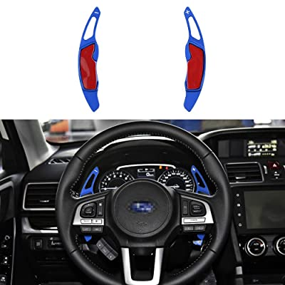 CKE Aluminum Steering Wheel Paddle Shifter Extension For Scion FR-S Subaru Forester Outback XV BRZ WRX Impreza Crosstrek Legacy GT86 - Blue: Automotive