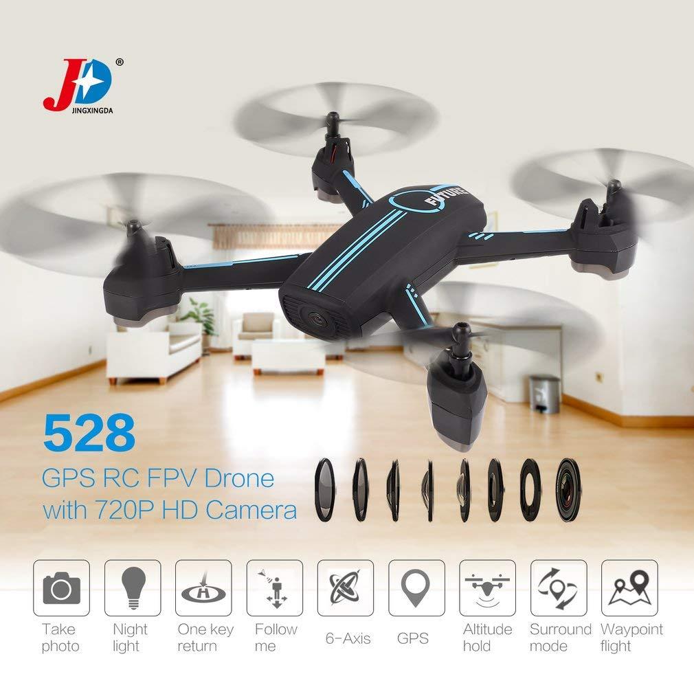 JINXINGDA 528 720P HD cámara WiFi FPV GPS posicionamiento RC Drone Waypoint Flight