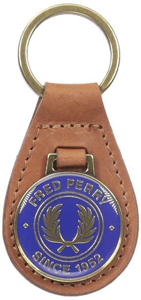 Fred Perry - Llavero de piel Hombre, canela, Talla única ...