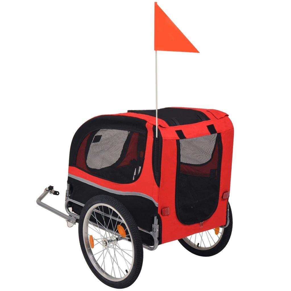 Festnight Outdoor Dog Bike Trailer Cargo Luggage Trailer Red and Black by Festnight (Image #3)
