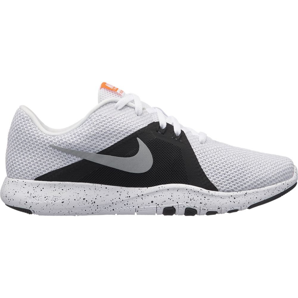 NIKE Women's Flex 8 Cross Trainer B0761YPLM2 9.5 B US|White/Metallic Silver-black