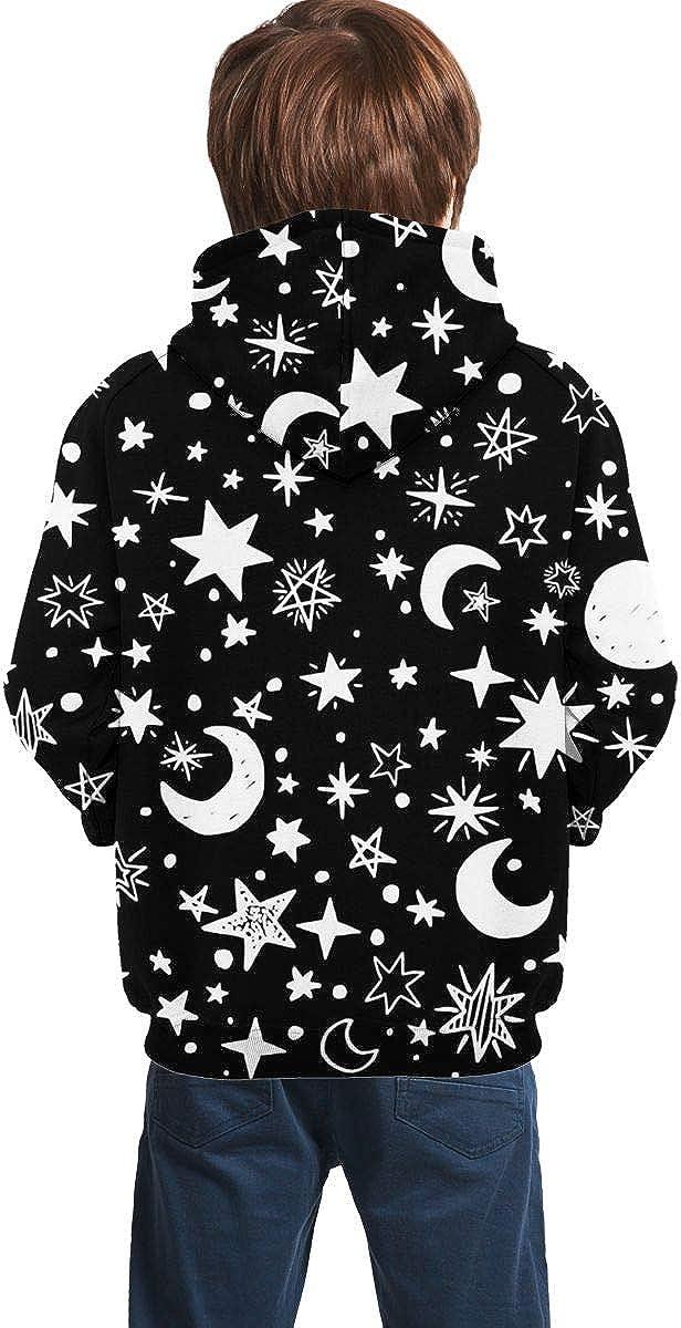 Lichenran Moons and Stars Unisex Pullover Teens Hoodie Hooded Sweatshirt Colorful