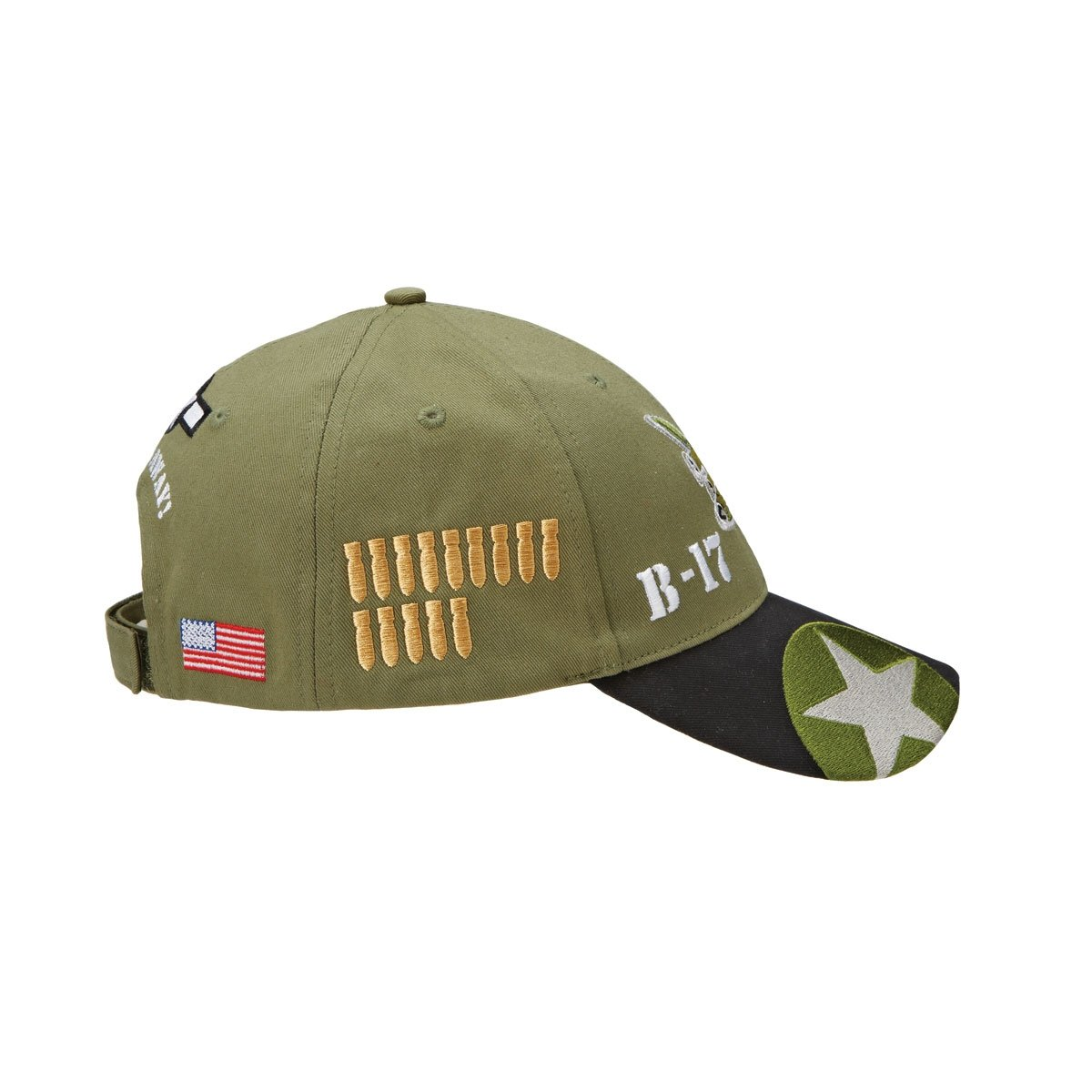 e2ded7a91d7 Sporty s Adjustable B-17 Flying Fortress Bomber Airplane Cap Hat Olive at  Amazon Men s Clothing store