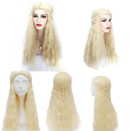 Juego de Tronos Daenerys Targaryen peluca pelo mujer Masquerade Cosplay Completo Pelucas